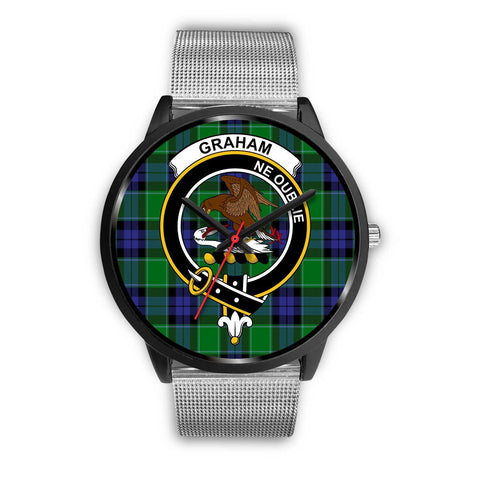 Graham of Menteith Modern Clans ,Rose Gold Metal Link watch, leather steel watch, tartan watch, tartan watches, clan watch, scotland watch, merry christmas, cyber Monday, halloween, black Friday