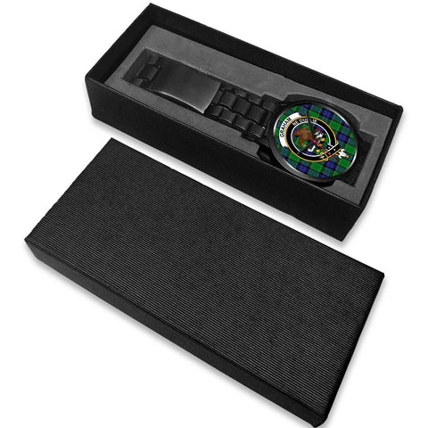 Image of Graham of Menteith Modern Clans ,White Leather watch, leather steel watch, tartan watch, tartan watches, clan watch, scotland watch, merry christmas, cyber Monday, halloween, black Friday