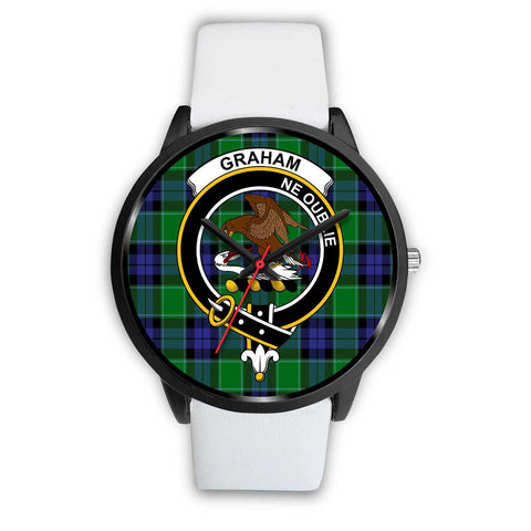 Image of Graham of Menteith Modern Clans ,Silver Metal Mesh watch, leather steel watch, tartan watch, tartan watches, clan watch, scotland watch, merry christmas, cyber Monday, halloween, black Friday