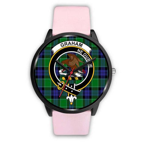 Image of Graham of Menteith Modern Clans ,Silver Metal Link watch, leather steel watch, tartan watch, tartan watches, clan watch, scotland watch, merry christmas, cyber Monday, halloween, black Friday