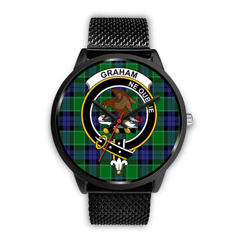 Image of Graham of Menteith Modern Clans ,Rose Gold Metal Mesh watch, leather steel watch, tartan watch, tartan watches, clan watch, scotland watch, merry christmas, cyber Monday, halloween, black Friday