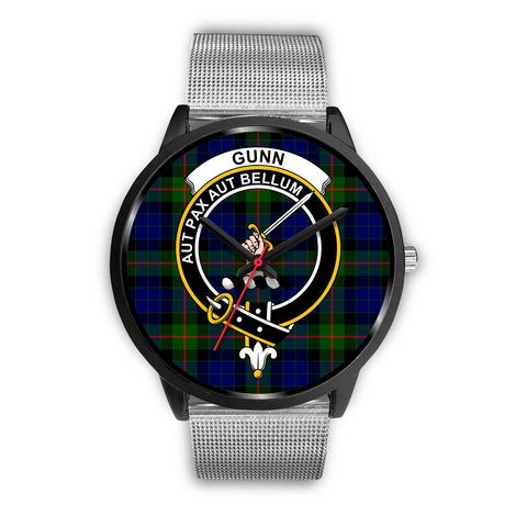 Gunn Modern Clans ,Rose Gold Metal Link watch, leather steel watch, tartan watch, tartan watches, clan watch, scotland watch, merry christmas, cyber Monday, halloween, black Friday