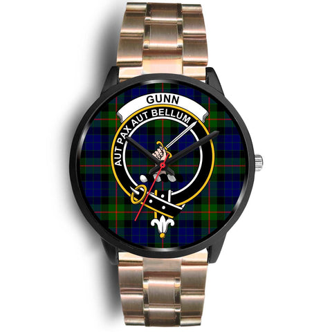 Gunn Modern Clans ,Black Leather watch, leather steel watch, tartan watch, tartan watches, clan watch, scotland watch, merry christmas, cyber Monday, halloween, black Friday