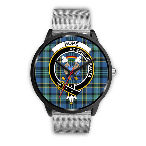 Hope Clans ,Rose Gold Metal Link watch, leather steel watch, tartan watch, tartan watches, clan watch, scotland watch, merry christmas, cyber Monday, halloween, black Friday