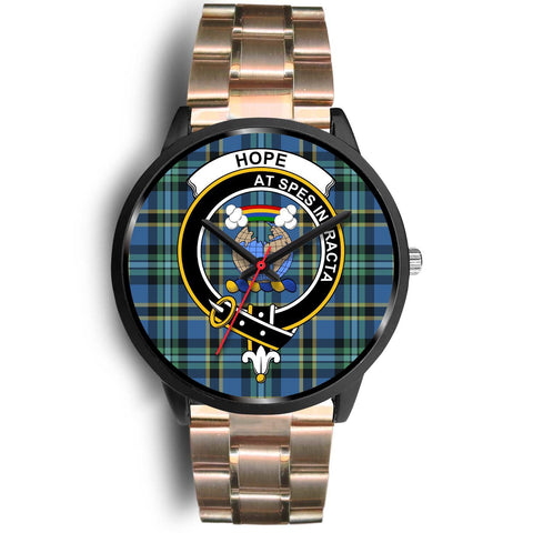 Hope Clans ,Black Leather watch, leather steel watch, tartan watch, tartan watches, clan watch, scotland watch, merry christmas, cyber Monday, halloween, black Friday
