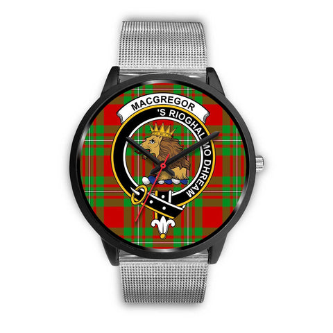 MacGregor Modern Clans ,Rose Gold Metal Link watch, leather steel watch, tartan watch, tartan watches, clan watch, scotland watch, merry christmas, cyber Monday, halloween, black Friday