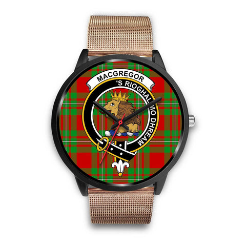 MacGregor Modern Clans ,Brown Leather watch, leather steel watch, tartan watch, tartan watches, clan watch, scotland watch, merry christmas, cyber Monday, halloween, black Friday