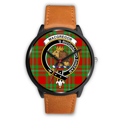 MacGregor Modern Clans ,Pink Leather watch, leather steel watch, tartan watch, tartan watches, clan watch, scotland watch, merry christmas, cyber Monday, halloween, black Friday
