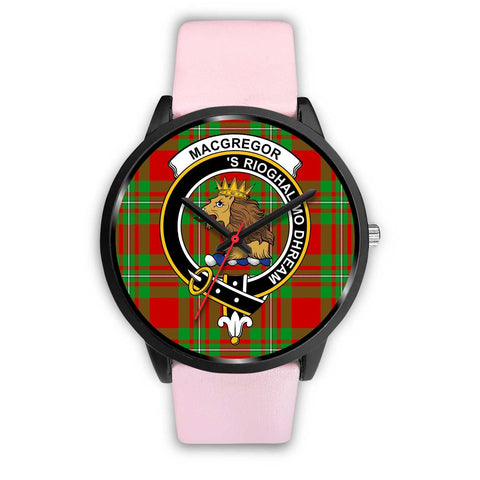 MacGregor Modern Clans ,Silver Metal Link watch, leather steel watch, tartan watch, tartan watches, clan watch, scotland watch, merry christmas, cyber Monday, halloween, black Friday