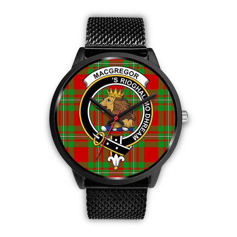 MacGregor Modern Clans ,Rose Gold Metal Mesh watch, leather steel watch, tartan watch, tartan watches, clan watch, scotland watch, merry christmas, cyber Monday, halloween, black Friday