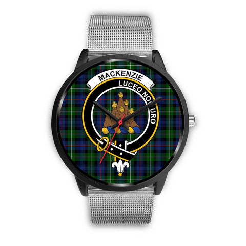 MacKenzie Modern Clans ,Rose Gold Metal Link watch, leather steel watch, tartan watch, tartan watches, clan watch, scotland watch, merry christmas, cyber Monday, halloween, black Friday
