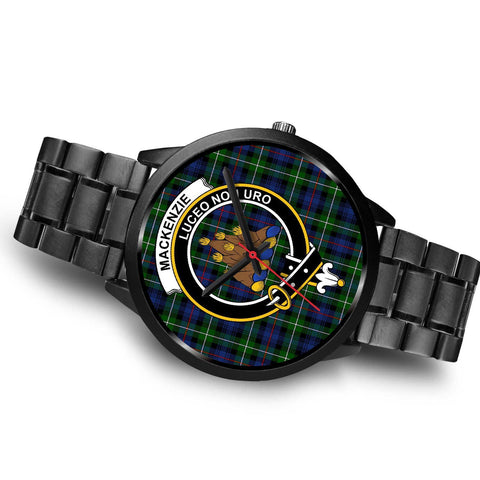 MacKenzie Modern Clans ,Brown Leather watch, leather steel watch, tartan watch, tartan watches, clan watch, scotland watch, merry christmas, cyber Monday, halloween, black Friday