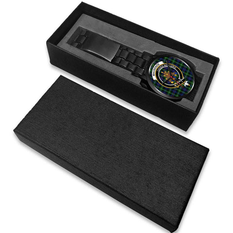 MacKenzie Modern Clans ,White Leather watch, leather steel watch, tartan watch, tartan watches, clan watch, scotland watch, merry christmas, cyber Monday, halloween, black Friday
