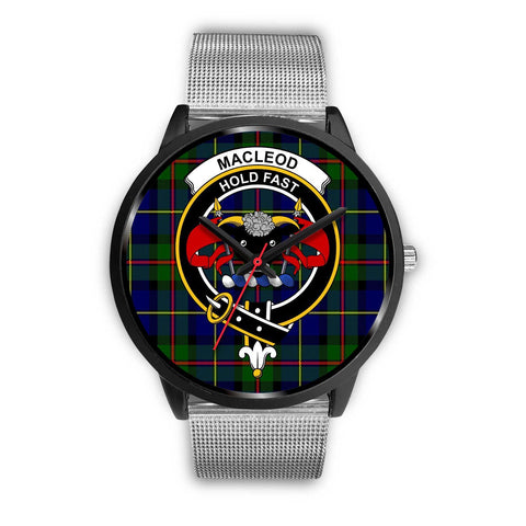 MacLeod Clans ,Rose Gold Metal Link watch, leather steel watch, tartan watch, tartan watches, clan watch, scotland watch, merry christmas, cyber Monday, halloween, black Friday
