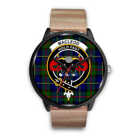 MacLeod Clans ,Brown Leather watch, leather steel watch, tartan watch, tartan watches, clan watch, scotland watch, merry christmas, cyber Monday, halloween, black Friday