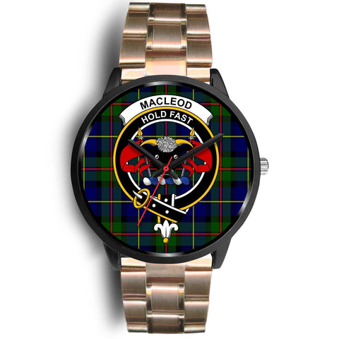 MacLeod Clans ,Black Leather watch, leather steel watch, tartan watch, tartan watches, clan watch, scotland watch, merry christmas, cyber Monday, halloween, black Friday
