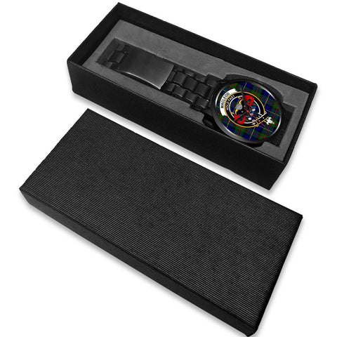 MacLeod Clans ,White Leather watch, leather steel watch, tartan watch, tartan watches, clan watch, scotland watch, merry christmas, cyber Monday, halloween, black Friday