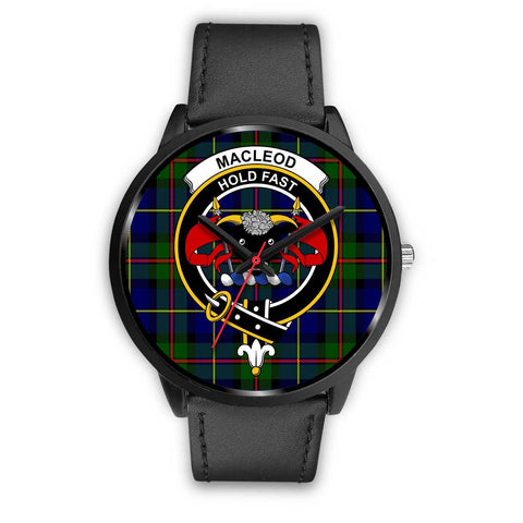 MacLeod Clans ,Black Metal Mesh watch, leather steel watch, tartan watch, tartan watches, clan watch, scotland watch, merry christmas, cyber Monday, halloween, black Friday