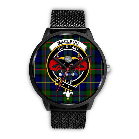 MacLeod Clans ,Rose Gold Metal Mesh watch, leather steel watch, tartan watch, tartan watches, clan watch, scotland watch, merry christmas, cyber Monday, halloween, black Friday