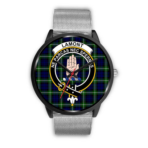 Lamont Modern Clans ,Rose Gold Metal Link watch, leather steel watch, tartan watch, tartan watches, clan watch, scotland watch, merry christmas, cyber Monday, halloween, black Friday