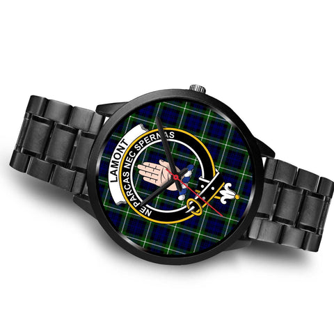 Lamont Modern Clans ,Brown Leather watch, leather steel watch, tartan watch, tartan watches, clan watch, scotland watch, merry christmas, cyber Monday, halloween, black Friday