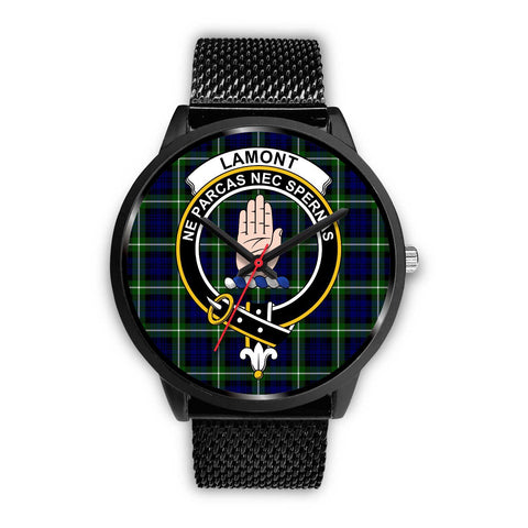 Lamont Modern Clans ,Rose Gold Metal Mesh watch, leather steel watch, tartan watch, tartan watches, clan watch, scotland watch, merry christmas, cyber Monday, halloween, black Friday