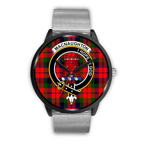 MacNaughton Modern Clans ,Rose Gold Metal Link watch, leather steel watch, tartan watch, tartan watches, clan watch, scotland watch, merry christmas, cyber Monday, halloween, black Friday