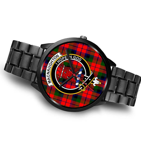 MacNaughton Modern Clans ,Brown Leather watch, leather steel watch, tartan watch, tartan watches, clan watch, scotland watch, merry christmas, cyber Monday, halloween, black Friday