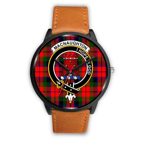 MacNaughton Modern Clans ,Pink Leather watch, leather steel watch, tartan watch, tartan watches, clan watch, scotland watch, merry christmas, cyber Monday, halloween, black Friday
