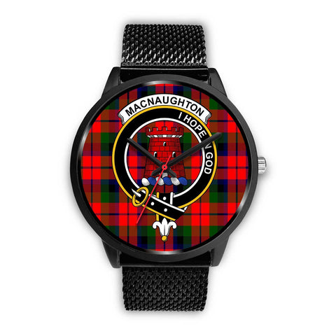 MacNaughton Modern Clans ,Rose Gold Metal Mesh watch, leather steel watch, tartan watch, tartan watches, clan watch, scotland watch, merry christmas, cyber Monday, halloween, black Friday