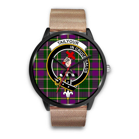 Taylor Clans ,Brown Leather watch, leather steel watch, tartan watch, tartan watches, clan watch, scotland watch, merry christmas, cyber Monday, halloween, black Friday