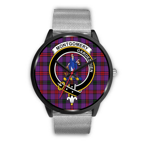 Montgomery Modern Clans ,Rose Gold Metal Link watch, leather steel watch, tartan watch, tartan watches, clan watch, scotland watch, merry christmas, cyber Monday, halloween, black Friday