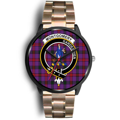 Montgomery Modern Clans ,Black Leather watch, leather steel watch, tartan watch, tartan watches, clan watch, scotland watch, merry christmas, cyber Monday, halloween, black Friday