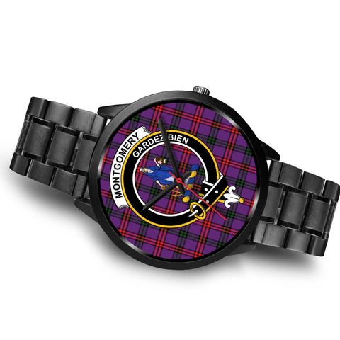 Montgomery Modern Clans ,Brown Leather watch, leather steel watch, tartan watch, tartan watches, clan watch, scotland watch, merry christmas, cyber Monday, halloween, black Friday