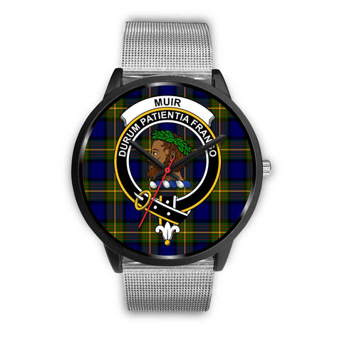 Muir Clans ,Rose Gold Metal Link watch, leather steel watch, tartan watch, tartan watches, clan watch, scotland watch, merry christmas, cyber Monday, halloween, black Friday