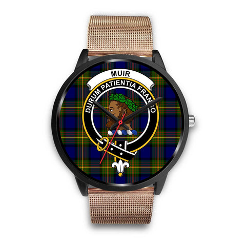 Muir Clans ,Brown Leather watch, leather steel watch, tartan watch, tartan watches, clan watch, scotland watch, merry christmas, cyber Monday, halloween, black Friday