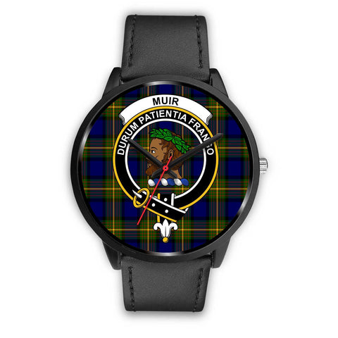 Muir Clans ,Black Metal Mesh watch, leather steel watch, tartan watch, tartan watches, clan watch, scotland watch, merry christmas, cyber Monday, halloween, black Friday
