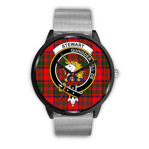 Stewart of Appin Clans ,Rose Gold Metal Link watch, leather steel watch, tartan watch, tartan watches, clan watch, scotland watch, merry christmas, cyber Monday, halloween, black Friday