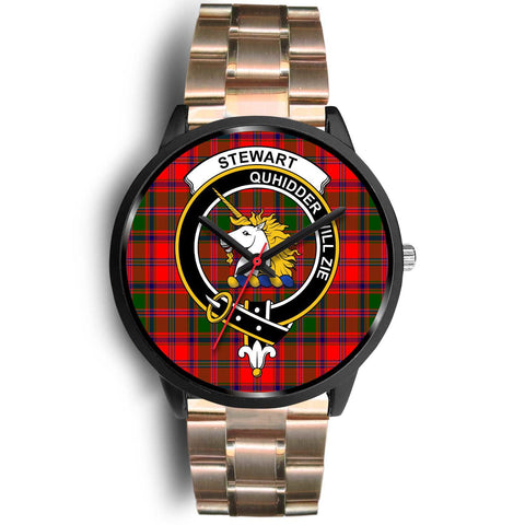 Stewart of Appin Clans ,Black Leather watch, leather steel watch, tartan watch, tartan watches, clan watch, scotland watch, merry christmas, cyber Monday, halloween, black Friday