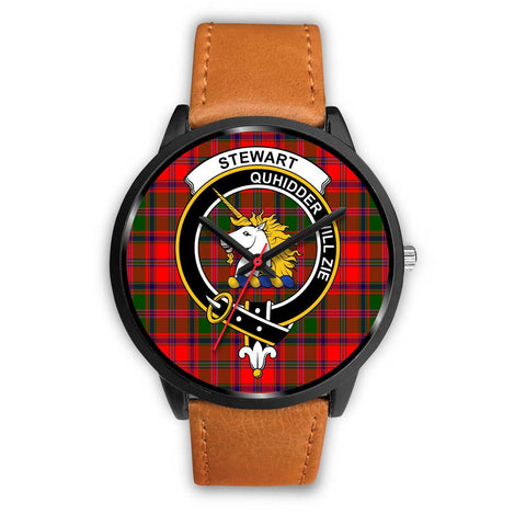 Stewart of Appin Clans ,Pink Leather watch, leather steel watch, tartan watch, tartan watches, clan watch, scotland watch, merry christmas, cyber Monday, halloween, black Friday