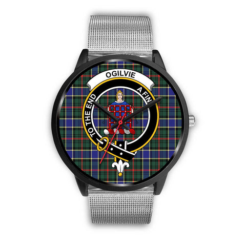 Ogilvie Hunting Modern Clans ,Rose Gold Metal Link watch, leather steel watch, tartan watch, tartan watches, clan watch, scotland watch, merry christmas, cyber Monday, halloween, black Friday