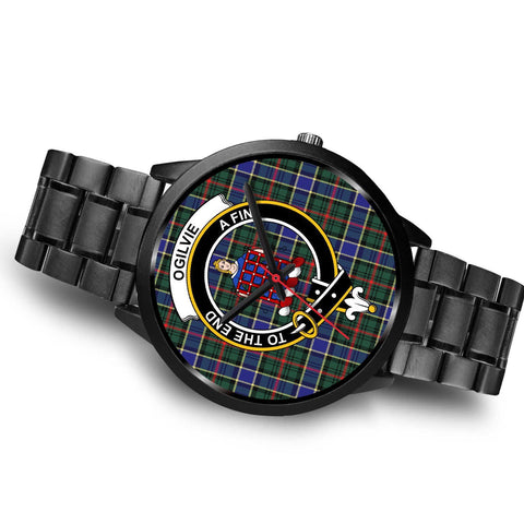 Ogilvie Hunting Modern Clans ,Brown Leather watch, leather steel watch, tartan watch, tartan watches, clan watch, scotland watch, merry christmas, cyber Monday, halloween, black Friday