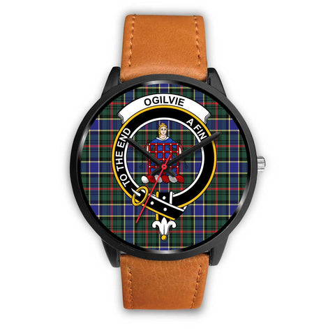Ogilvie Hunting Modern Clans ,Pink Leather watch, leather steel watch, tartan watch, tartan watches, clan watch, scotland watch, merry christmas, cyber Monday, halloween, black Friday