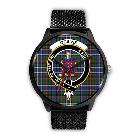 Ogilvie Hunting Modern Clans ,Rose Gold Metal Mesh watch, leather steel watch, tartan watch, tartan watches, clan watch, scotland watch, merry christmas, cyber Monday, halloween, black Friday