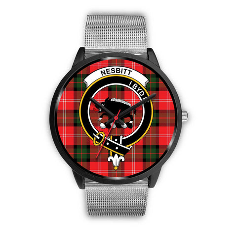 Nesbitt Modern Clans ,Rose Gold Metal Link watch, leather steel watch, tartan watch, tartan watches, clan watch, scotland watch, merry christmas, cyber Monday, halloween, black Friday