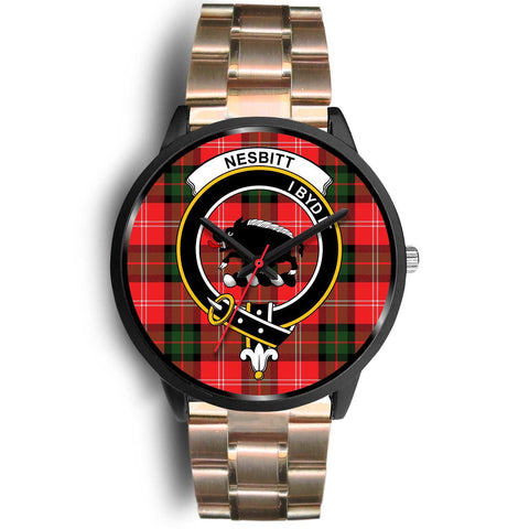 Nesbitt Modern Clans ,Black Leather watch, leather steel watch, tartan watch, tartan watches, clan watch, scotland watch, merry christmas, cyber Monday, halloween, black Friday