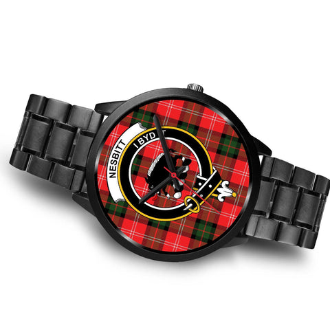 Nesbitt Modern Clans ,Brown Leather watch, leather steel watch, tartan watch, tartan watches, clan watch, scotland watch, merry christmas, cyber Monday, halloween, black Friday