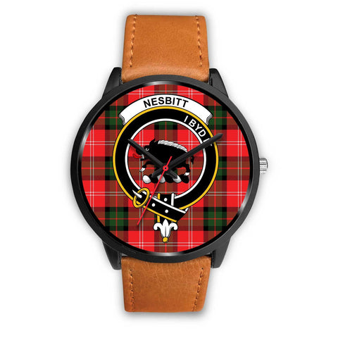 Nesbitt Modern Clans ,Pink Leather watch, leather steel watch, tartan watch, tartan watches, clan watch, scotland watch, merry christmas, cyber Monday, halloween, black Friday