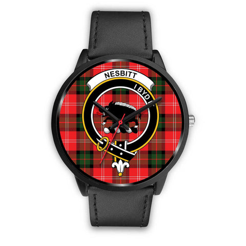 Nesbitt Modern Clans ,Black Metal Mesh watch, leather steel watch, tartan watch, tartan watches, clan watch, scotland watch, merry christmas, cyber Monday, halloween, black Friday