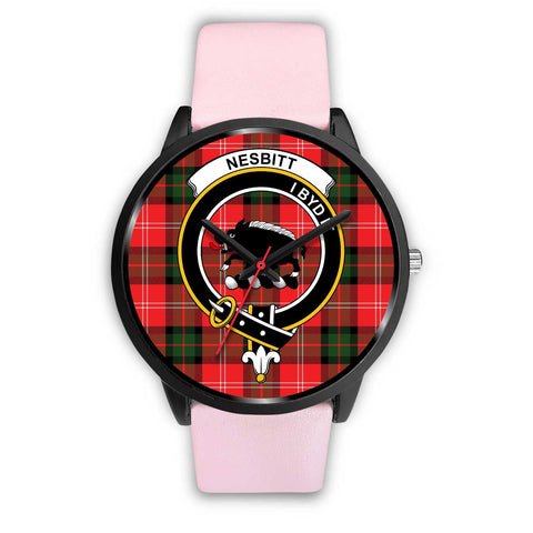 Nesbitt Modern Clans ,Silver Metal Link watch, leather steel watch, tartan watch, tartan watches, clan watch, scotland watch, merry christmas, cyber Monday, halloween, black Friday
